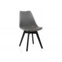 Деревянный стул Bonus dark gray / black