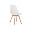 Деревянный стул Bonus белый