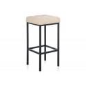 Барный стул Лофт кожзам d1 / черный матовый
