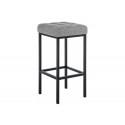 Барный стул Лофт рогожка графит / черный матовый