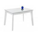 Стеклянный стол Арья белый / белая шагрень