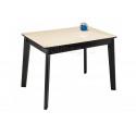 Стеклянный стол Арья сливочно-кремовый / венге