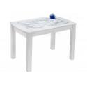 Стеклянный стол Варис белый