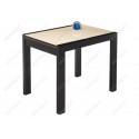 Стеклянный стол Джорах 90 бежевый / венге