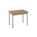 Стол «Родос» Тип 1 с опорой d50 (Хром/Дуб Крафт золотой)