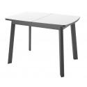 Стол Dikline UNIS 12 черный/белый