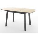 Стол Dikline UNIS 12 черный/крем