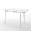 Стол Dikline UNIS 12 белый/белый