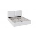 Кровать «Глосс» с мягкой обивкой и подъемным механизмом тип 1 (Белая) ТД 319.01.02