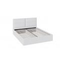 Кровать «Глосс» с мягкой обивкой тип 1 (Белая) ТД 319.01.01