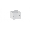 Тумба прикроватная с 2 ящиками «Глосс» ТД 319.03.01 (Белый глянец/Стекло)