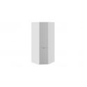 Шкаф угловой с зеркальной дверью «Глосс» СМ-319.07.312 (Белый глянец)