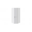 Шкаф угловой с 1 дверью правый «Скарлет» (Белый глянец/Белый глянец с рисунком)