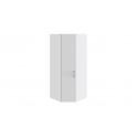 Шкаф угловой с 1 дверью левый «Скарлет» (Белый глянец/Белый глянец с рисунком)
