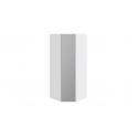 Шкаф угловой с 1 зеркальной дверью левый «Скарлет» (Белый глянец/Белый глянец)