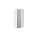 Шкаф угловой с 1 зеркальной дверью правый «Скарлет» (Белый глянец/Белый глянец)