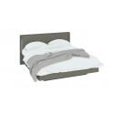 Двуспальная кровать «Наоми» СМ-208.01.01 (Фон серый, Джут)