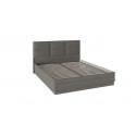 Кровать с подъемным механизмом и мягким изголовьем «Либерти» СМ-297.01.004 (Хадсон/Ткань Грей)