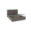 Кровать с подъемным механизмом и мягким изголовьем «Либерти» СМ-297.01.006 (Хадсон/Ткань Грей)