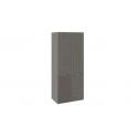 Шкаф для одежды с 1 дверью и 1 с ЛКП «Либерти» (Хадсон/Фон Серый) СМ-297.07.025