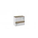 Тумба с ящиком и 2-мя дверями «Оксфорд» (Ривьера/Белый с рисунком)
