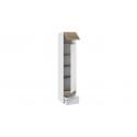 Шкаф для белья «Оксфорд» (Ривьера/Белый с рисунком)