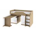 Кровать комбинированная «Оксфорд» (Ривьера/Белый с рисунком)