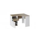 Стол угловой с ящиками «Оксфорд» (Ривьера/Белый с рисунком)
