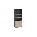 Шкаф для документов с нишей и 2-мя дверями «Успех-2» (Венге Цаво, Дуб Сонома)