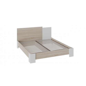 Двуспальная кровать «Валери» (Дуб сонома/Белый ясень)
