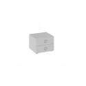 Тумба прикроватная «Глория» (Белый/Белый глянец)
