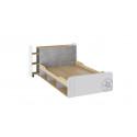 Кровать «Мегаполис» (Бунратти/Белый с рисунком)