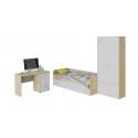 Набор детской мебели «Мегаполис» стандартный (Бунратти/Белый с рисунком)
