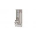 Шкаф-секция комбинированная «Витра» тип 1 (Ясень шимо/Сатин матовый)