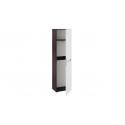 Шкаф для одежды «Фьюжн» (Венге Линум, Белый глянец)