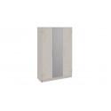 Шкаф комбинированный «Мишель» (Ясень шимо/Сатин матовый с рисунком)