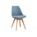 Деревянный стул Bonuss light blue