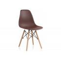 Пластиковый стул Eames PC-015 brown