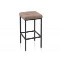 Барный стул Лофт ткань канди мокко / черный матовый
