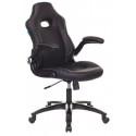 Кресло игровое Zombie VIKING-1N/BLACK черный искусственная кожа
