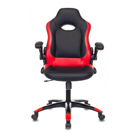 Кресло игровое Zombie VIKING-1N/BL-RED черный/красный искусственная кожа