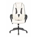 Кресло игровое Zombie VIKING-8N/WH+BLACK белый/черный искусственная кожа