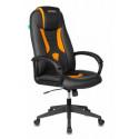 Кресло игровое Zombie VIKING-8N/BL-OR черный/оранжевый искусственная кожа