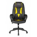 Кресло игровое Zombie VIKING-8N/BL-YELL черный/желтый искусственная кожа