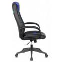 Кресло игровое Zombie VIKING-8N/BL+BLUE черный, синий искусственная кожа
