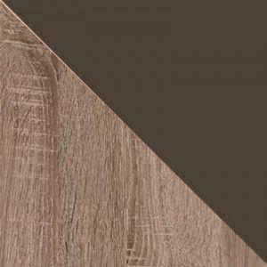 Дуб Сонома трюфель/Кожзам коричневый