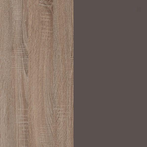 Дуб Сонома трюфель/Стекло коричневое глянец